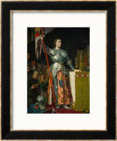 Joan of Arc at the Coronation of King Charles VII at Reims Cathedral, July 1429 Framed Giclee Print by Jean-Auguste-Dominique Ingres