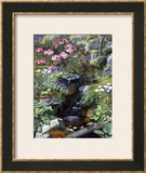 Alpine Flowers by a Stream Framed Giclee Print by Otto Didrik Ottesen