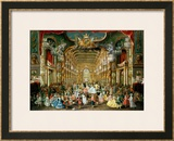 Masked Ball in the Hoftheater, Bonn, 1754 Framed Giclee Print by Jakob Rousseau