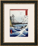 The Sea off Satta in Suruga Province', from the Series 'The Thirty-Six Views of Mt. Fuji' Framed Giclee Print by Hashiguchi Goyo