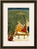 Seventh Incarnation of Vishnu as Rama-Chandra: Rama and Sita Reunited Framed Giclee Print
