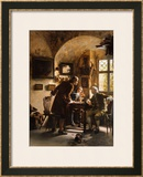 The Argument Framed Giclee Print by Johann Hamza