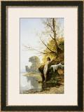 The Bather Framed Giclee Print by Hermann David Salomon Corrodi