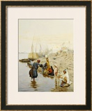At the Waters Edge Framed Giclee Print by Charles Wilda