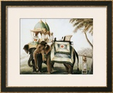 Elephants with Their Mahouts, Company School, circa 1815 Framed Giclee Print