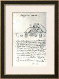 Ultissima Verba, Drawing of Arthur Rimbaud Framed Giclee Print by Paul Verlaine