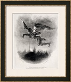 Mephistopheles' Prologue in the Sky, from Goethe's Faust, 1828 Framed Giclee Print by Eugene Delacroix