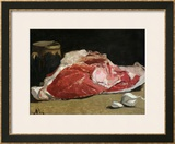 Still Life, the Joint of Meat, 1864 Framed Giclee Print by Claude Monet