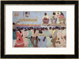Negro Dance Framed Giclee Print by Pedro Figari