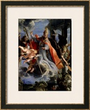 The Triumph of St. Augustine 1664 Framed Giclee Print by Claudio Coello