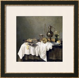 Breakfast with a Crab, 1648 Framed Giclee Print by Willem Claesz. Heda