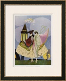 Venice, Carnival Characters Framed Giclee Print by Umberto Brunelleschi