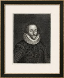 William Shakespeare Playwright and Poet Framed Giclee Print by S. Bennett
