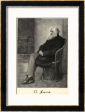 Charles Darwin English Naturalist Sitting in a Chair Framed Giclee Print by Thomas Johnson