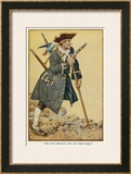 Long John Silver with His Parrot on His Shoulder Framed Giclee Print by Monro S. Orr