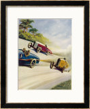 Racing Cars of 1926: Oddly One Car is Carrying Two People the Others Only One Framed Giclee Print by Norman Reeve