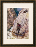 Surveying for a New Railway Line Through the Canadian Rockies Framed Giclee Print by E.p. Kinsella