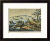 Animals and Plants of the Post-Jurassic Era in Southern England Framed Giclee Print by Ferdinand Von Hochstetter