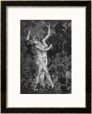 At a Sabbat in the Basque Country Two Witches Enjoy a Lascivious Dance Framed Giclee Print by Martin Van Maele