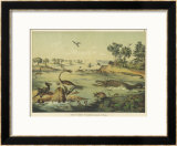 Animals and Plants of the Jurassic Era in Europe Framed Giclee Print by Ferdinand Von Hochstetter