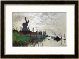 Windmill at Zaandam (Netherlands), 1871 Framed Giclee Print by Claude Monet