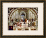 School of Athens, circa 1510-1512, One of the Murals Raphael Painted for Pope Julius II Framed Giclee Print by  Raphael