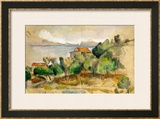 The Bay of L'Estaque, 1878-1882 Framed Giclee Print by Paul Cézanne