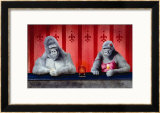 Goin Ape Down at the Monkey Bars Framed Giclee Print by Will Bullas