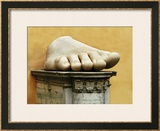 Marble Foot from Colossal Figure of Emperor Constantine the Great (306-337 CE) Framed Giclee Print