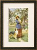 Lambing Time Framed Giclee Print by Basil Bradley