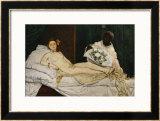 Olympia, 1863-1865 Framed Giclee Print by Édouard Manet