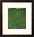 A Field of Poppies, 1907 Framed Giclee Print by Gustav Klimt
