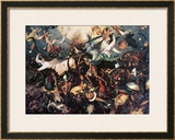 The Fall of the Rebel Angels, 1562 Framed Giclee Print by Pieter Bruegel the Elder