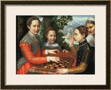 Game of Chess, 1555 Framed Giclee Print by Sofonisba Anguisciola