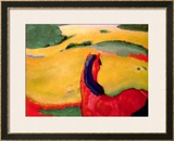 Horse in a Landscape, 1910 Framed Giclee Print by Franz Marc