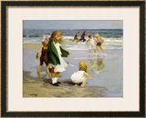 Play in the Surf Framed Giclee Print by Edward Henry Potthast