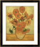 Vase of Fifteen Sunflowers, c.1889 Framed Giclee Print by Vincent van Gogh