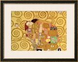 Fulfillment, Stoclet Frieze, c.1909 (detail) Framed Giclee Print by Gustav Klimt