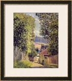 A Road in Louveciennes, 1883 Framed Giclee Print by Alfred Sisley