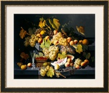Still Life with Fruit and a Glass of Champagne Framed Giclee Print by Severin Roesen
