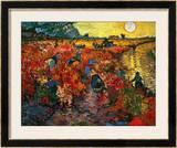 The Red Vineyard at Arles, c.1888 Framed Giclee Print by Vincent van Gogh