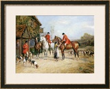 Outside the Three Crowns Framed Giclee Print by Heywood Hardy