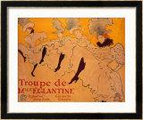 La Troupe De Mlle. Eglantine Framed Giclee Print by Henri de Toulouse-Lautrec