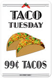 Taco Tuesday Tin Sign