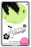 Martini Lounge Tin Sign