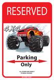 Reserved 4 x4 Parking Only Plaque en métal