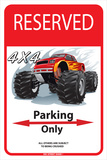 Reserved 4 x4 Parking Only Placa de lata