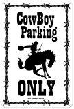 Cow Boy Parking Blikskilt