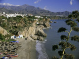 Salon Beach from Balcon De Europe, Nerja, Andalucia (Andalusia), Spain, Europe Photographic Print by Michael Short