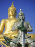 Giant Statue of Buddha and Guard, Koh Samui, Thailand, Asia Photographic Print by Dominic Webster